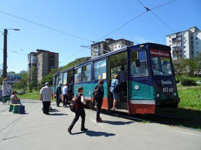ロアシ ウラジオストクの旅 路面電車に乗る