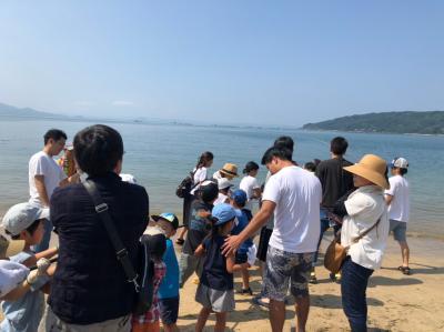 糸島市志摩町・初音旅館のビーチで実施される地引網に参加してきました。(^0^)!!