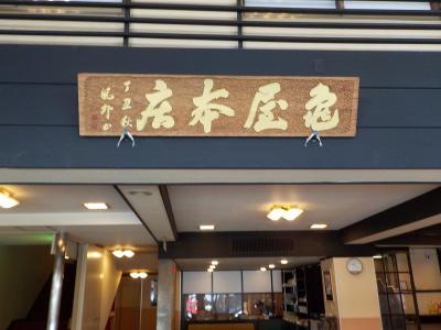 ふるさと納税返礼品で、戸倉上山田温泉 亀屋本店に宿泊しました