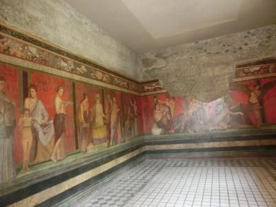 2019GW イタリア29:世界遺産ポンペイ遺跡4 ヴェッティの家、ファウヌスの家、秘儀荘