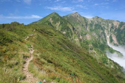 バスと電車で行く爺ヶ岳~鹿島槍ヶ岳 テント泊登山