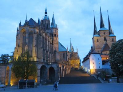 心の安らぎ旅行(2019年 5月 Erfurt エアフルト Part14 Nachtansicht 夜景♪)