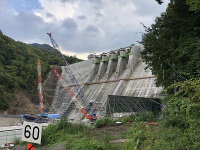 貯水直前の八ツ場ダムを見学しました。
