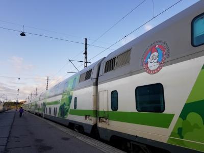 2019.9 ヘルシンキ→ロバニエミへサンタクロース・エクスプレスで移動