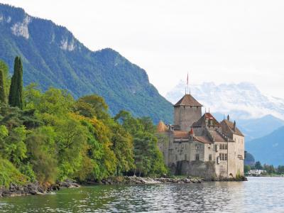レマン湖を眺めながら、シヨン城までお散歩【スイス旅行:2日目 後半<モントルー編>】