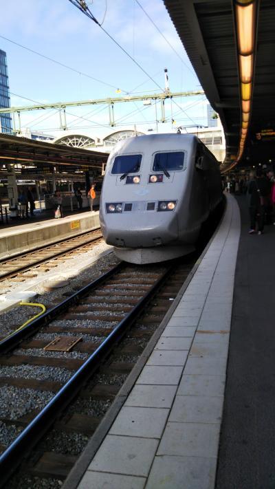 2019年9月母と娘の北欧旅行     ストックホルムからコペンハーゲン列車で移動