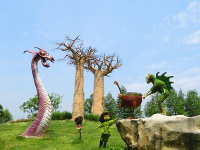 沙漠之戦!巨型のバオバブの下に噴火の砂丘悪龍とペルシャの騎士!馬可波羅花世界楽園♪2019年6月中国 揚州・鎮江7泊8日(個人旅行)114