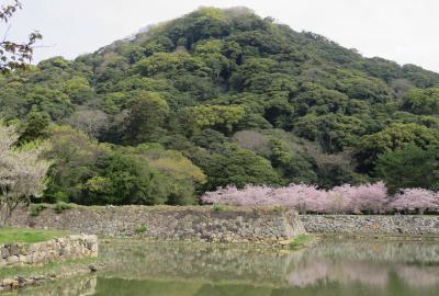 2018春、中国西部の百名城巡り(18/28):4月4日(4):萩城(4):指月山の要害、山頂の本丸、二の丸、虎口、下山