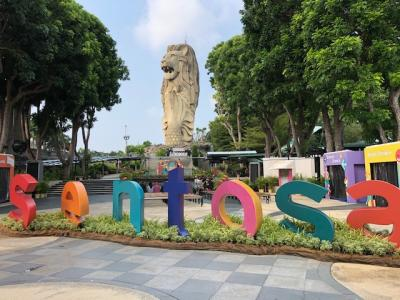 娘と行くシンガポール珍道中記4~マーライオンとライオン、間に寺院