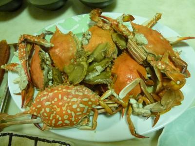家族で?旙仔寮漁港へ新鮮な魚介類を買い行きました 高雄 2019/09/22