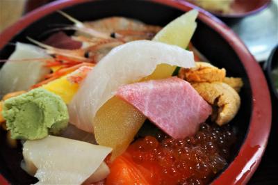 真っ青な秋空だったので、美味しいお寿司を食べに行って来た! in 増毛町