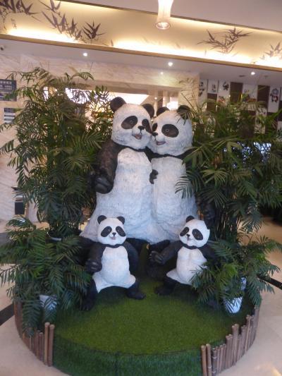 5歳娘を連れてGW四川省+重慶10日間の旅14-最後の夜はパンダずくしのパンダホテル