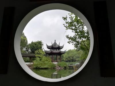 西渓国家湿地公園の高庄は明代末期から清代中期の典型的な官宅官舎公邸で300m四方くらいある♪2019年9月中国 杭州7泊8日(個人旅行)12