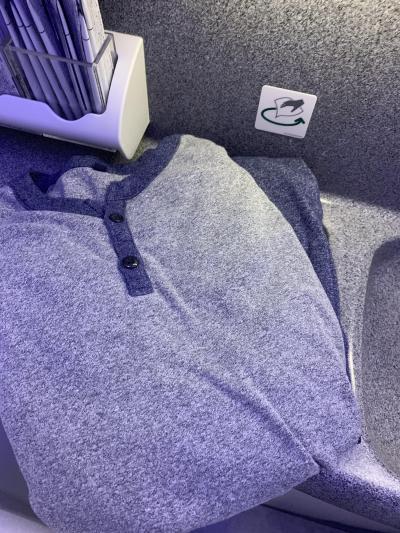 ANAビジネクラス 羽田-バンコク 深夜便でパジャマを借りてみました つかの間バンコク暮らし32 2019.9月