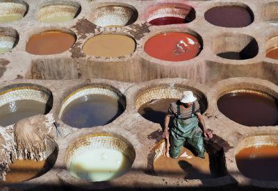 今日は何色?初ムスリムの国モロッコへ・・・おそるおそる駆け抜けた6日間!⑧☆フェズ☆タンネリ・ショワラ、アンダルース地区のアート路地など☆
