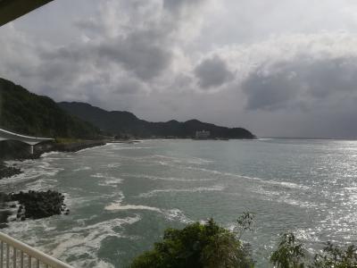 台風で海水浴中止・・・(伊豆)