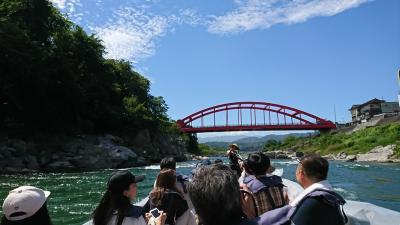 元善光寺で西国三十三箇所巡礼、その後は天竜川舟下り
