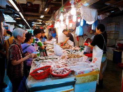 香港★荃灣日記 街市にカエル…じゃなくて、蝦を買い物に ~楊屋道街市~