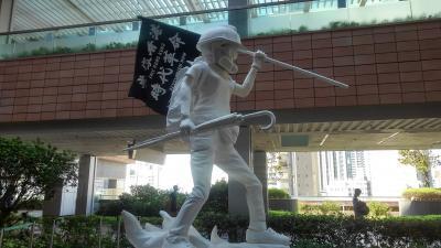 デモ渦中の香港 迫力ある【ストリートアート】を見物