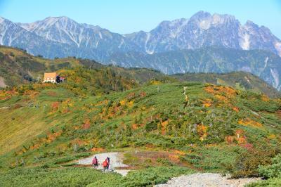 ソロテント泊で秋晴れの爺ヶ岳・鹿島槍ヶ岳
