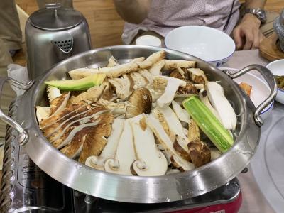 週末土日で襄陽(1)再びヤンヤンで松茸鍋!海鮮や花火も♪