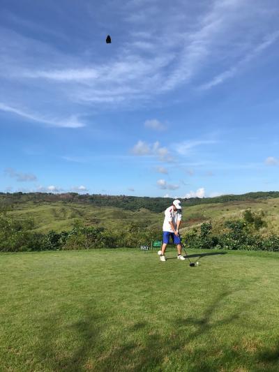 またグアム。またゴルフ。