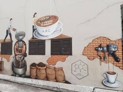 Yip Yew Chong氏の壁画をめぐる、初めてのシンガポール①2015年作品