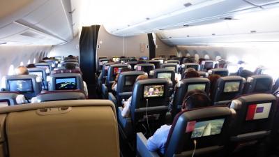 JAL エアバスA350-900搭乗目的 東京1泊2日の旅【A350-900のクラスJ席で、福岡~羽田間搭乗編】