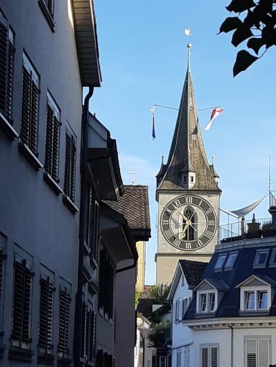 決定版‼スイス8日間(7)中世の魅力を残すリマト川沿いのチューリヒ