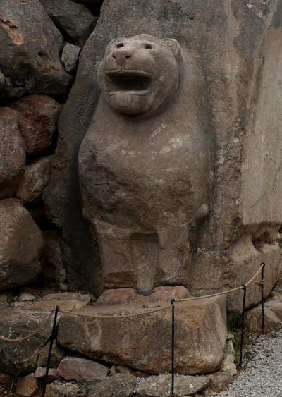 2019.8トルコの知人を訪ねる16-Hattusha(Hattusas)ハットゥシャ遺跡1 大神殿,ライオン門