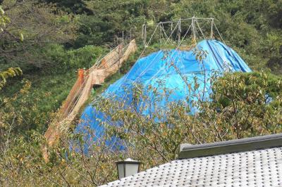 建長寺の台風被害からの復旧工事