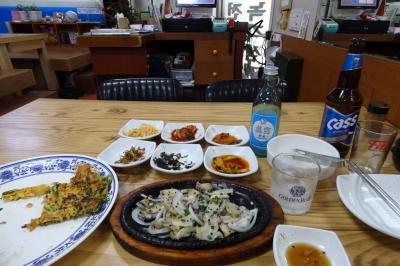 お盆休みの釜山3泊 海東海鮮湯(ヘドンヘムルタン)の夕食
