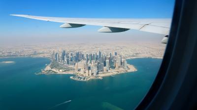 ドーハ経由、ベルリン行き。 カタール航空搭乗記