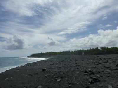 噴火後のキラウエア火山