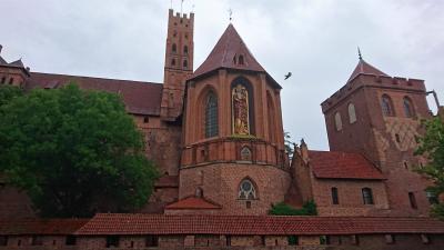 雨多き初夏のポーランド(5) 中世ドイツ騎士団の居城 マルボルク城