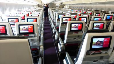 JAL エアバスA350-900搭乗目的 東京1泊2日の旅【A350-900の普通席で、羽田~福岡間搭乗編】