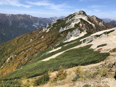 紅葉真っ盛りの燕岳に登頂。