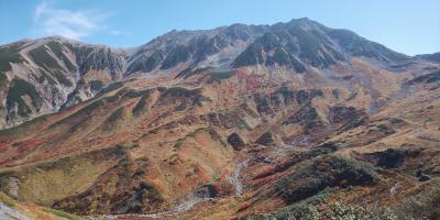 富山旅行 親戚に連れられて立山の紅葉を見に行く