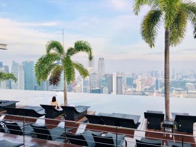 アラ還姉妹のシンガポールMBSにステイ④ レイトチェックアウトでのんびり