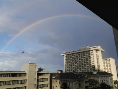 30年ぶりのハワイ・相棒は娘⑵2日目は虹からスタート