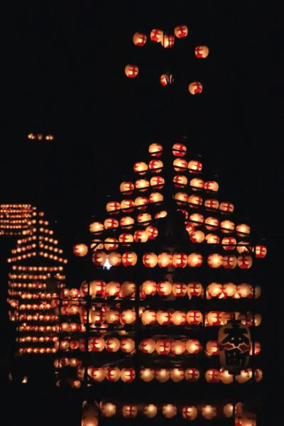 二本松提灯祭りの東北レッサーパンダ詣(2)思いがけず見学できた一度は見てみたいと思っていた提灯祭りの迫力の7台の太鼓台の引廻し