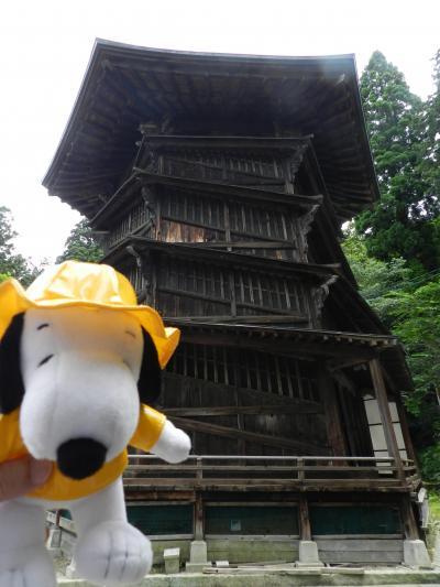 不思議な二重構造のらせん階段『会津さざえ堂』◆2019年7月・家族で行く南東北旅行《その6》