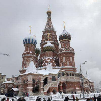 年始ロシア4泊6日ひとり旅  #02  ホワイトクリスマスなモスクワ編
