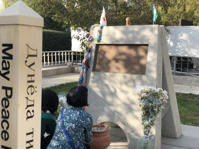 蒼の世界に浸るウズベキスタンの旅  7日目の1  タシケント 日本人墓地・ウズベキスタン歴史博物館