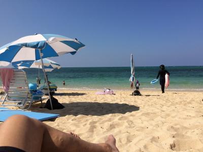 普通に真夏、10月の沖縄リゾート