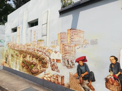 Yip Yew Chong氏の壁画を巡る、初めてのシンガポール③2017年作品