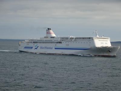 新日本海フェリーで新潟から苫小牧まで。