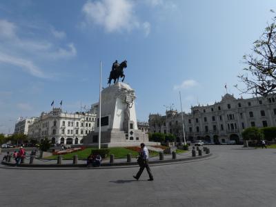 ペルー リマ 旧市街南部からグラウ広場(Plaza San Martin & Plaza Grau, Lima, Peru)