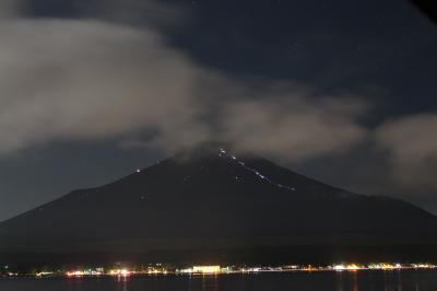 2019年8月11日:山中湖畔にて「富士山夜景」撮影 & フルーツ公園からの夜景撮影 に挑戦