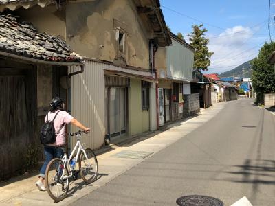 上山田温泉でサイクリング その4 旧力石村から千曲川沿いを走りました。